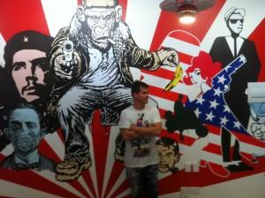 Trash Monkey mural