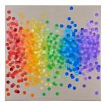 Light  Rain #7, Spectrum, (Red to Indigo)120 x 120cmoil on linen 2016 SOLD