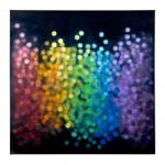 Light  Rain #8, Spectrum (Red to Indigo), Falling 120 x 120cm oil on canvas 2016 $2200