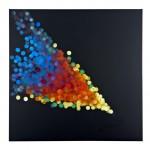 Light  Rain #9, Raining Light, Spectrum 120 x 120cm oil on canvas 2016 $2200